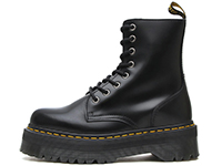 QUAD RETRO JADON 8EYE BOOT(15265001)BLACK POLISHED SMOOTHの左横向き写真