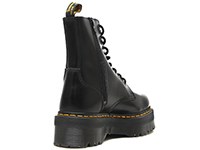 QUAD RETRO JADON 8EYE BOOT(15265001)BLACK POLISHED SMOOTHの右斜め後ろ向き写真