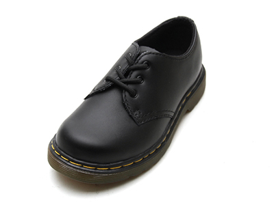 KIDS INFANTS LACE SHOE(15371001)BLACK SOFTY Tの商品メイン写真