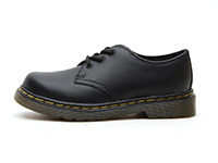 KIDS INFANTS LACE SHOE(15371001)BLACK SOFTY Tの左横向き写真