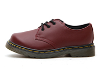KIDS INFANTS LACE SHOE(15371601)CHERRY RED SOFTY Tの左横向き写真