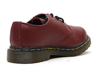 KIDS INFANTS LACE SHOE(15371601)CHERRY RED SOFTY Tの右斜め後ろ向き写真