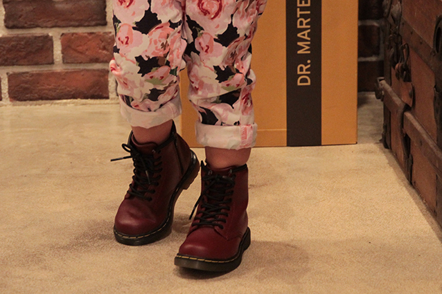 KIDS INFANTS LACE BOOT(15373601)CHERRY RED SOFTY Tのメインイメージ