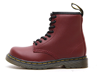 KIDS INFANTS LACE BOOT(15373601)CHERRY RED SOFTY Tの左横向き写真