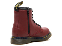 KIDS INFANTS LACE BOOT(15373601)CHERRY RED SOFTY Tの右斜め後ろ向き写真