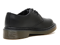 KIDS JUNIOURS LACE SHOE(15378001)BLACK SOFTY Tの右斜め後ろ向き写真