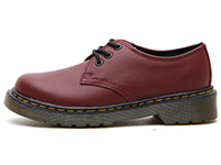 KIDS JUNIOURS LACE SHOE(15378601)CHERRY REDの左横向き写真