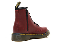 KIDS JUNIOURS LACE BOOT(15382601)CHERRY RED SOFTY Tの右斜め後ろ向き写真