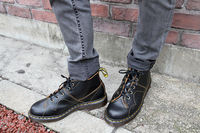 ARCHIVE CHURCH LACE LOW BOOT(16054001)BLACK VINTAGE SMOOTH			のメインイメージ