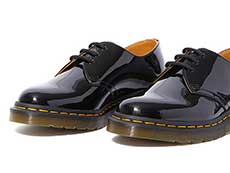 CORE 1461 3EYE SHOE(10084001)BLACK PATENT LAMPERのトゥ部分写真