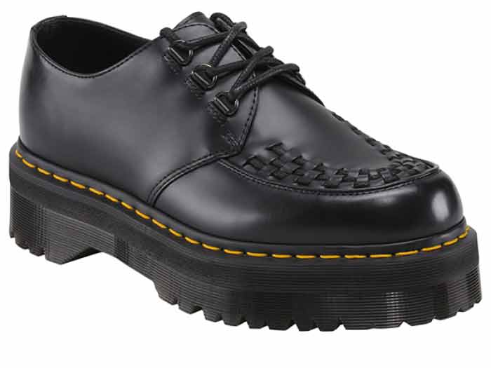 QUAD RETRO ASHLEY CREEPER SHOE(15728001)BLACK SMOOTHのメイン商品写真