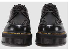 QUAD RETRO ASHLEY CREEPER SHOE(15728001)BLACK SMOOTHの前からの写真