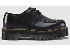 QUAD RETRO ASHLEY CREEPER SHOE(15728001)BLACK SMOOTHの右横向き写真