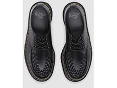 QUAD RETRO ASHLEY CREEPER SHOE(15728001)BLACK SMOOTHの上からの写真