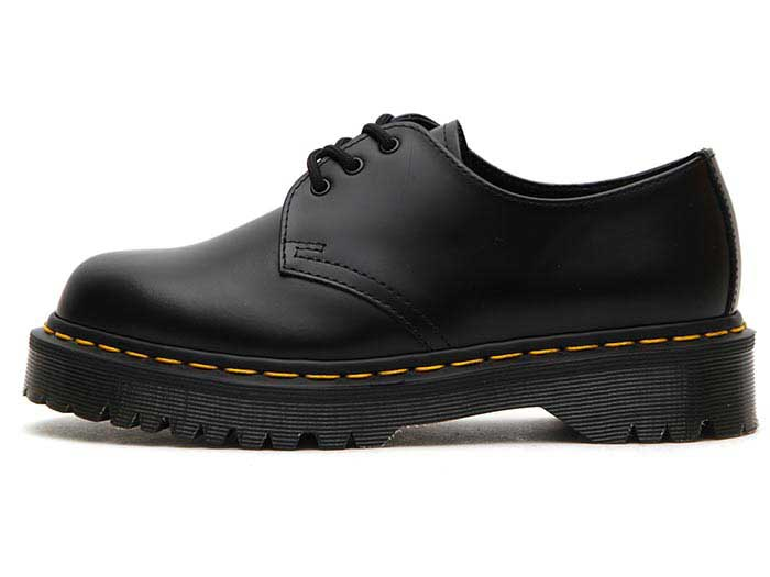 1461 BEX 3EYELET SHOE(21084001)BLACK SMOOTHの左横向き写真
