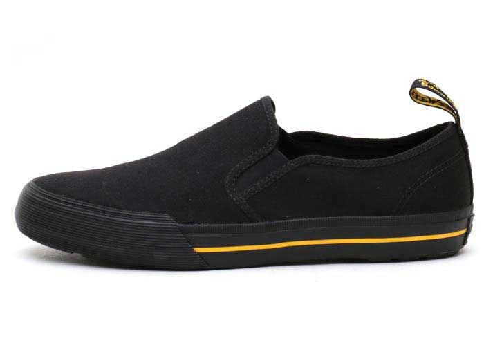 VISTA TOOMEY CANVAS SLIP ON SHOE(21949001)BLACK 10 OZ CANVASの左横向き写真