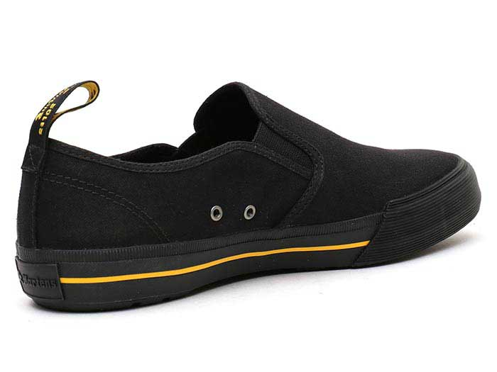 VISTA TOOMEY CANVAS SLIP ON SHOE(21949001)BLACK 10 OZ CANVASの右斜め後ろ向き写真