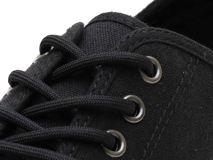 VISTA PRESSLER CANVAS SHOE(21951001)BLACK 10 OZ CANVASのホール部分写真
