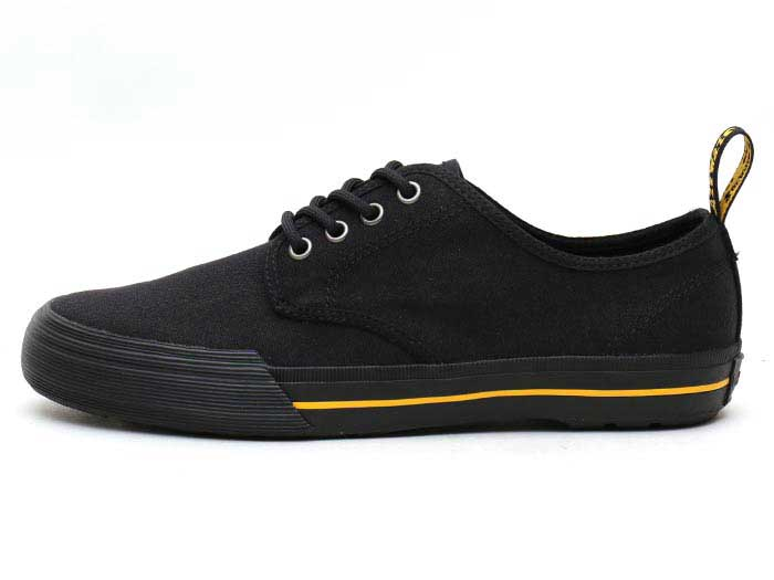 VISTA PRESSLER CANVAS SHOE(21951001)BLACK 10 OZ CANVASの左横向き写真