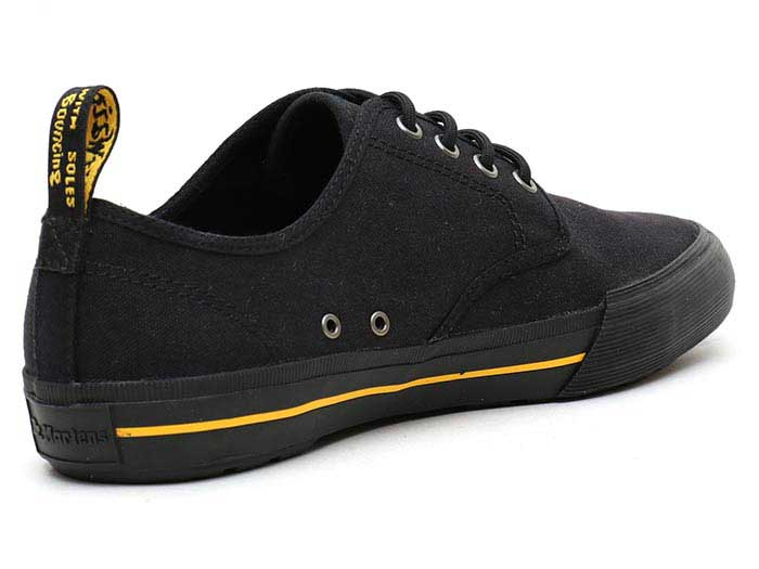 VISTA PRESSLER CANVAS SHOE(21951001)BLACK 10 OZ CANVASの右斜め後ろ向き写真