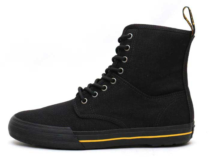 VISTA WINSTED CANVAS 8 EYE BOOT(21953001)BLACK 10 OZ CANVASの左横向き写真