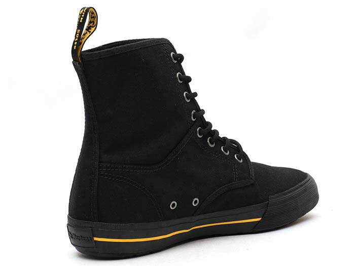 VISTA WINSTED CANVAS 8 EYE BOOT(21953001)BLACK 10 OZ CANVASの右斜め後ろ向き写真