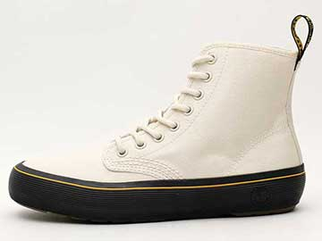 QUEX MONET 8EYE BOOT(23548115)BONE CANVAS 左向き写真