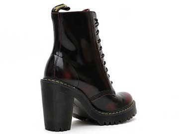 SEIRENE KENDRA 10EYE BOOT(23727600)CHERRY RED ARCADIAの斜め右後ろ向き写真