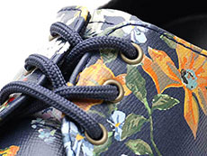 CORE PRINT 1461 DF 3EYE SHOE(23873417)DM'S NAVY DARCY FLORAL BACKHAND STRAW GRAINのホール部分写真