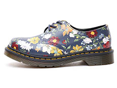 CORE PRINT 1461 DF 3EYE SHOE(23873417)DM'S NAVY DARCY FLORAL BACKHAND STRAW GRAINの左横向き写真