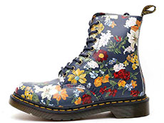CORE PRINT PASCAL DF 8EYE BOOT(23876417)DM'S NAVY DARCY FLORAL BACKHAND STRAW GRAINの左横向き写真