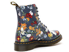 CORE PRINT PASCAL DF 8EYE BOOT(23876417)DM'S NAVY DARCY FLORAL BACKHAND STRAW GRAINの右斜め後ろ向き写真