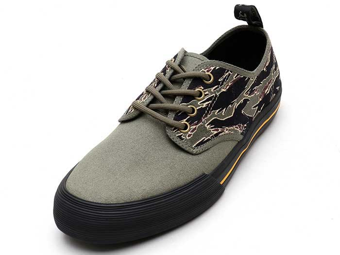 VISTA PRESSLER CAMO 4EYE SHOE(23896272)KHAKI+GREEN CANVAS+JUNGLE CAMO CANVAS 商品写真