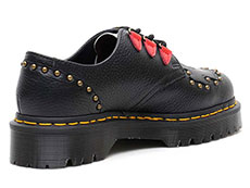 CORE BEX SEROVA 3TIE SHOE(24073001)BLACK AUNT SALLYの右斜め後ろ向きイメージ