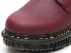 CUBE FLEX LEXINGTON 8EYE BOOT(24144606)BURGUNDY SENDALのトゥ部分写真