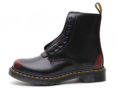 CORE PASCAL FRONT ZIP 8EYE BOOT(24330600)CHERRY RED ARCADIAの左横向き写真