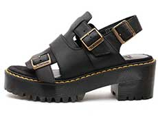 SANGUINE ARIEL SANDAL(24495001)BLACK WYOMINGの左横向き写真