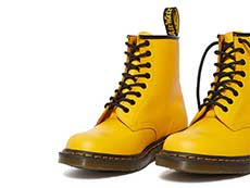 ICONS 1460 8EYE BOOT(24614700)YELLOW SMOOTHのトゥ部分写真