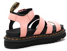 ZEBRILLUS BLAIRE CHUNKY 3STRAP SANDAL(24619672)SALMON PINK+BLACK PISA+SOFT PUの斜め右後ろ向き写真