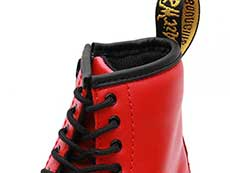 CORE KIDS 1460 T INFANTS LACE BOOT(24831636)SATCHEL RED ROMARIOの履き口部分写真