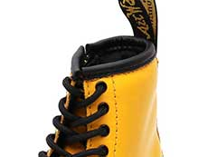 CORE KIDS 1460 T INFANTS LACE BOOT(24831700)YELLOW ROMARIO(SMOOTHER FINISH)の履き口部分写真