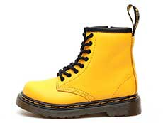CORE KIDS 1460 T INFANTS LACE BOOT(24831700)YELLOW ROMARIO(SMOOTHER FINISH)の左横向き写真