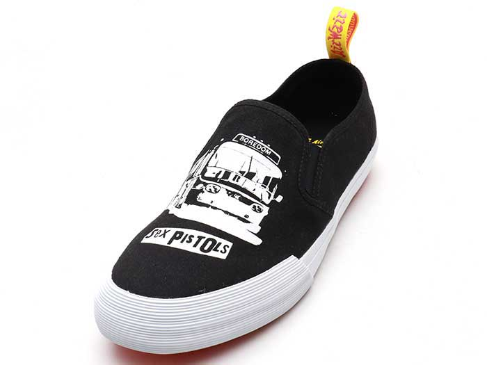 VISTA TOOMEY SXP SLIP ON SHOE(24882009)BLACK+WHITE SEX PISTOLS PRETTY VACANT CANVAS 詳細ページへ