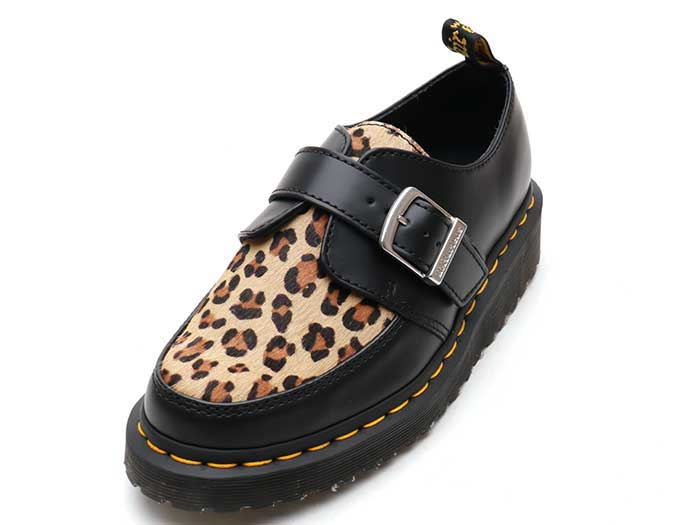 CREEPERS RAMSEY MONK CREEPER(25127001)BLACK+MEDIUM LEOPARD SMOOTH+HAIR ONのメイン商品写真