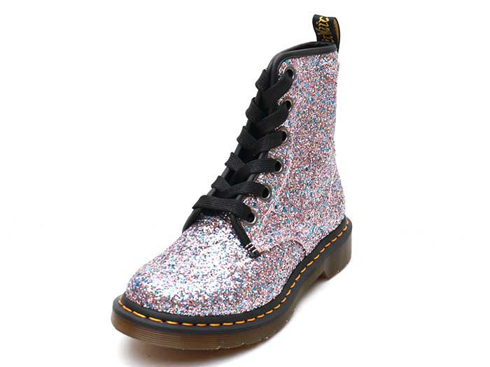 CORE 1460 FARRAH 6EYE BOOT(25137667)MULTI BLUE CHUNKY GLITTERのメイン商品写真