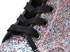 CORE 1460 FARRAH 6EYE BOOT(25137667)MULTI BLUE CHUNKY GLITTERのホール部分写真