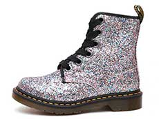 CORE 1460 FARRAH 6EYE BOOT(25137667)MULTI BLUE CHUNKY GLITTERの左横向き写真