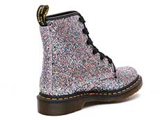 CORE 1460 FARRAH 6EYE BOOT(25137667)MULTI BLUE CHUNKY GLITTERの斜め右後ろ向き写真
