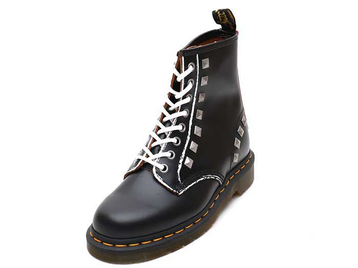 CORE APPLIQUE 1460 STUD 8EYE BOOT(25202001)BLACK ROLLED VINTAGE SMOOTHの商品メイン写真