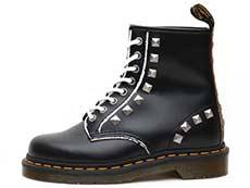 CORE APPLIQUE 1460 STUD 8EYE BOOT(25202001)BLACK ROLLED VINTAGE SMOOTHの左横向き写真